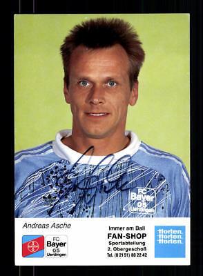 A 192519 Fußball, National Gewissenhaft Andreas Asche Autogrammkarte Bayer Uerdingen 1990-91 Original