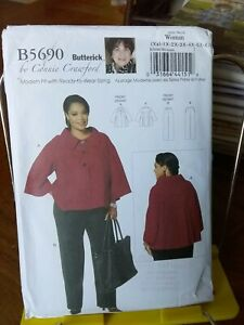 Butterick-Connie-Crawford-5690-misses-loose-jacket-cropped-swing-sz-18-44-NEW