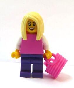 Caricamento dell immagine in corso LEGO -Minifigura-Figura-Ragazza-Donna-Rosa-Viola-Capelli- fb9dce40a9be