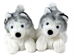 Husky Animal Slippers Siberian Husky Dog Slippers For Men