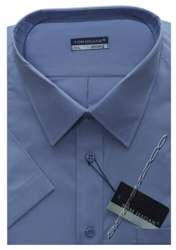 New Mens King Size Plain Short Sleeve Summer Shirt 3XL 6XL By Tom Hagan