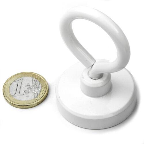 Super Magnete al Neodimio OTNW-40 POTENZA 39 Kg CON PRATICO OCCHIELLO IN ACCIAIO