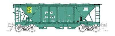 Fox Valley # 90513 PRR Class H30 3-Bay Cover Hopper Penn Central # 32308  N  MIB