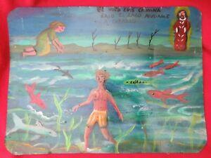 Mexican-Folk-Art-Miguel-Hernandez-Boy-Plays-Under-The-Ocean-Ex-Voto-Retablo