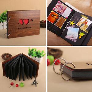 Wooden-DIY-Scrapbook-Photo-Album-Refills-Anniversary-Gift-Forever-Love-PCT