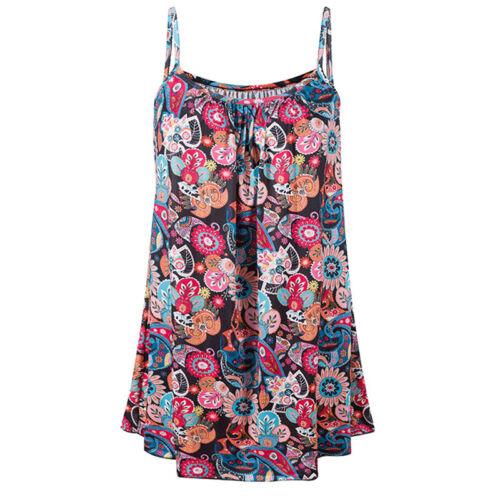 Damen Oberteile Weste Tops Sommer Camisole Lose Ärmellos Einfarbig Bluse Tunika