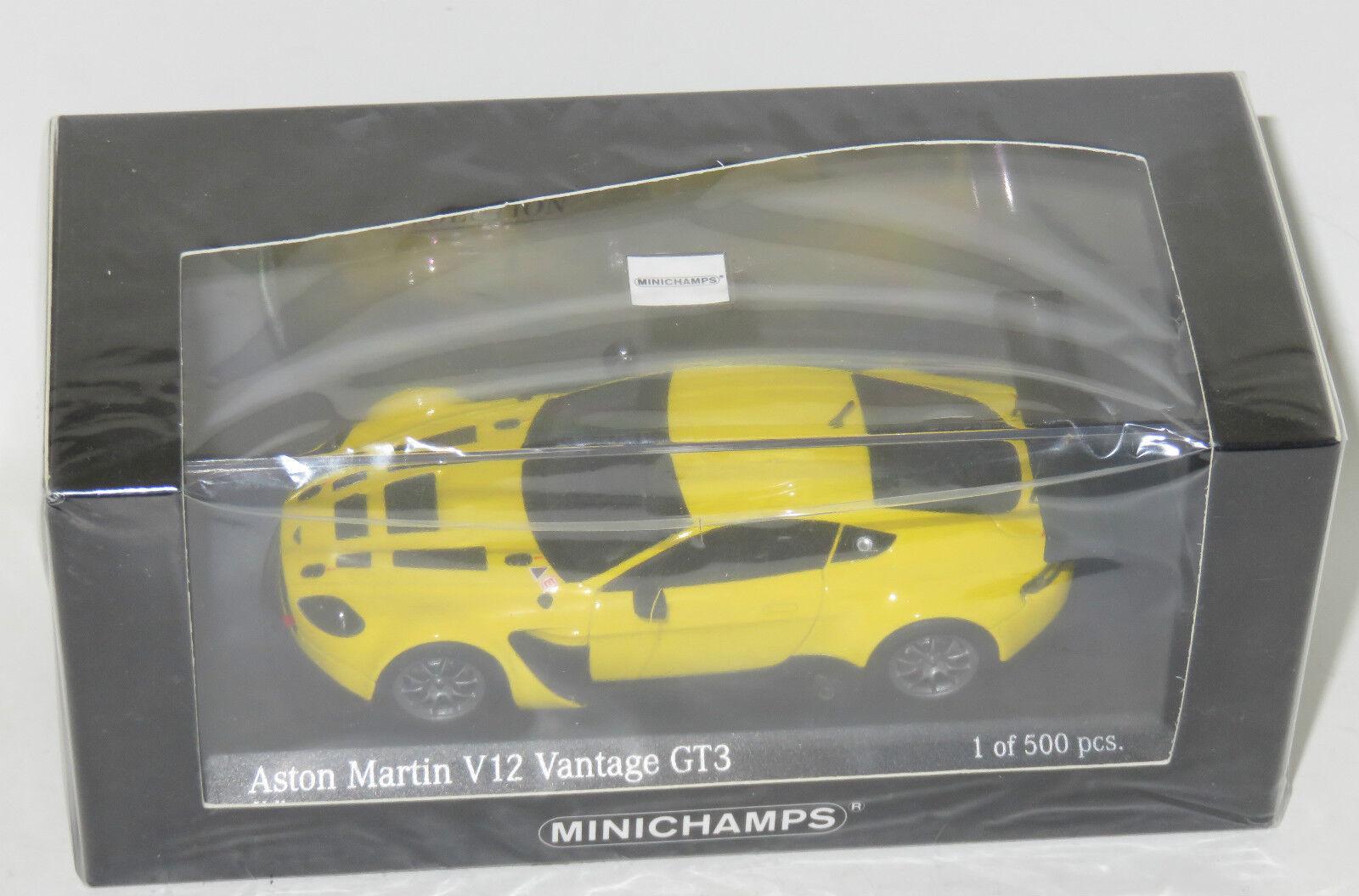 garantía de crédito 1 43 Aston Aston Aston Martin V12 Vantage GT3 Amarillo 2012 Edición Limitada 500 piezas  lo último