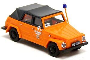 Busch Sondermodell VW 181 Kübel Feuerwehr Bremen KatS orange ABC ErkKW 1:87 H0