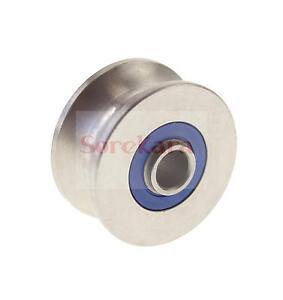 8*30*14mm U Groove width 8mm Guide Pulley Sheave Sealed Rail Ball Bearing