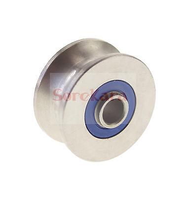10*56*31mm U Groove width 20.5mm Guide Pulley Sheave Sealed Rail Ball Bearing