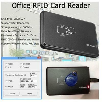 USB 125Khz RFID EM4305 ATA5577 Card Rear Writer Copiergrammer Burner V0D1
