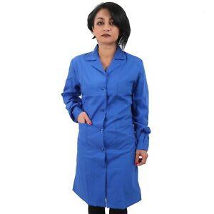 84f8684ace56 Corso Caricamento Blu Donna Camice Leggero Classico Lungo Da In  Dell immagine Lavoro cjLqA435R