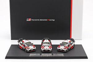 3-Car-Set-Toyota-Gazoo-Racing-WRC-2018-Series-Marken-Weltmeister1-43-Spark