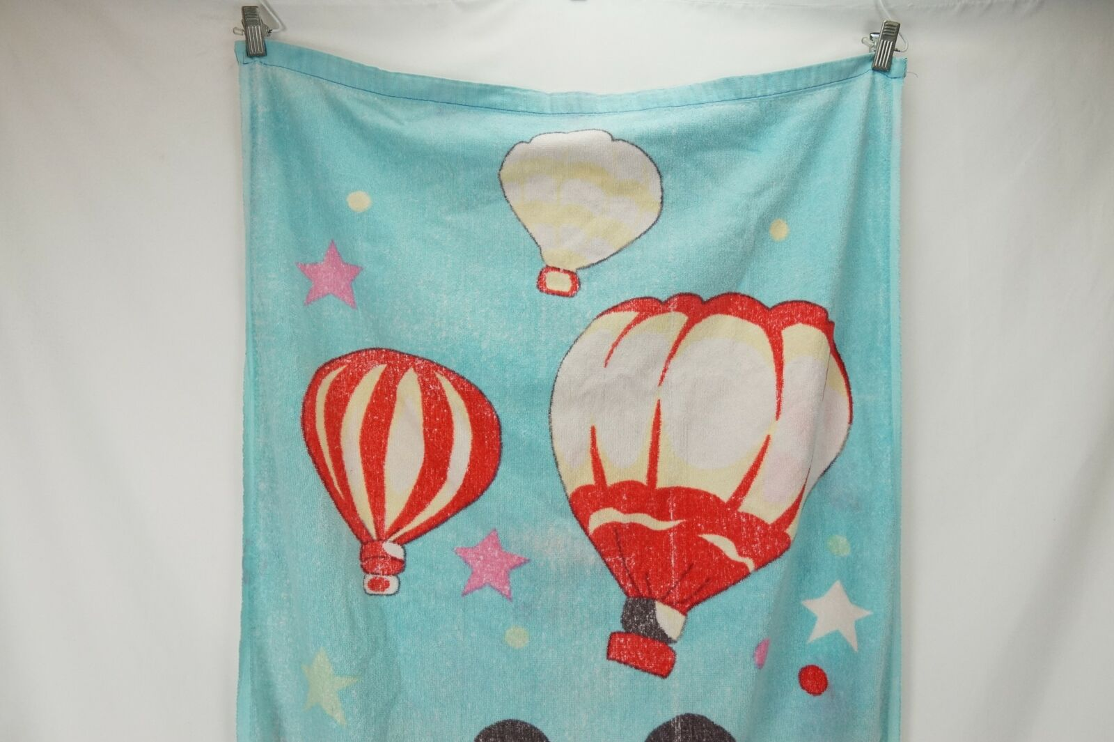 Vintage Mickey Mouse Hot Air Balloon Design Beach Towel Size W-28 L-53