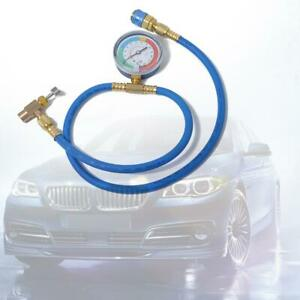 Car-AC-Air-Conditioning-R134A-Refrigerant-Recharge-Hose-w-Pressure-Gauge-A-C