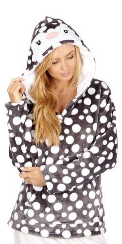 Mesdames Forever rêver noël animal haut à capuche avec des taches gris ou vison