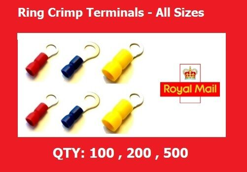 Ring Crimps Connectors Electrical Ring Crimp Terminals 3.2,3.7,4.3,5.3,6.4,8.4mm