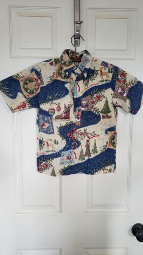 Reyn Spooner Aloha Hawaiian Shirt Mele Kalikimaka