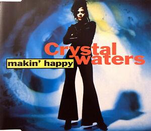 Crystal-Waters-Maxi-CD-Makin-039-Happy-Europe-M-EX