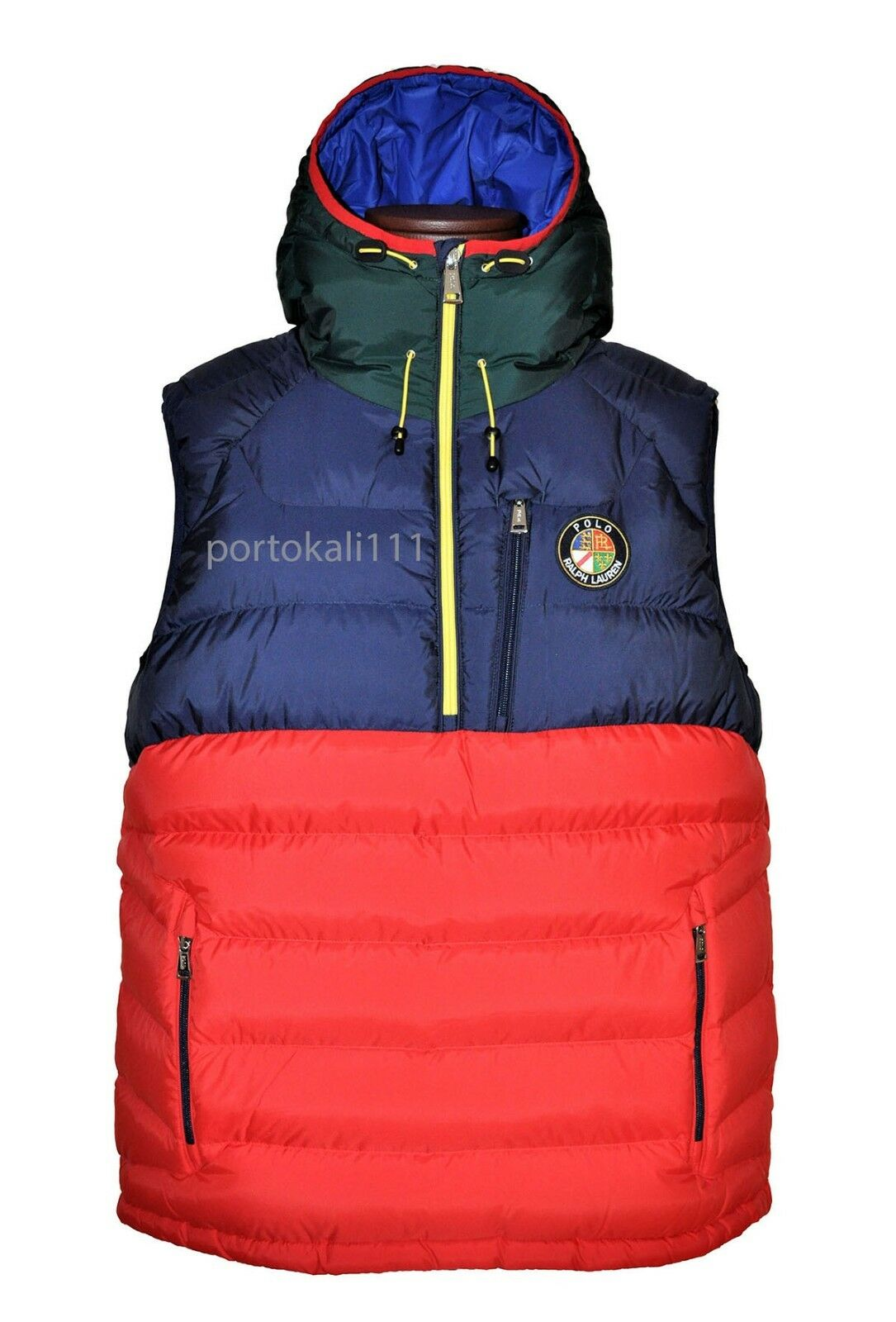 Polo Ralph Lauren Men's Downhill Skier Down Vest Polo Sport Red New