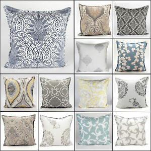 NUOVO-Lusso-100-in-morbido-cotone-stampa-geometrica-copre-Cuscino-per-divano-20-x-20-034