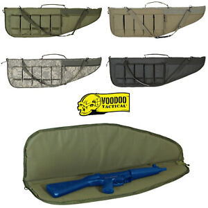 Voodoo-Tactical-Protector-Padded-Rifle-Case-Weapons-Storage-w-Magazine-Pouches