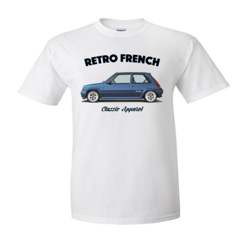 RENAULT 5 GT TURBO t-shirt MODIFIED. CLASSIC CAR RETRO FRENCH