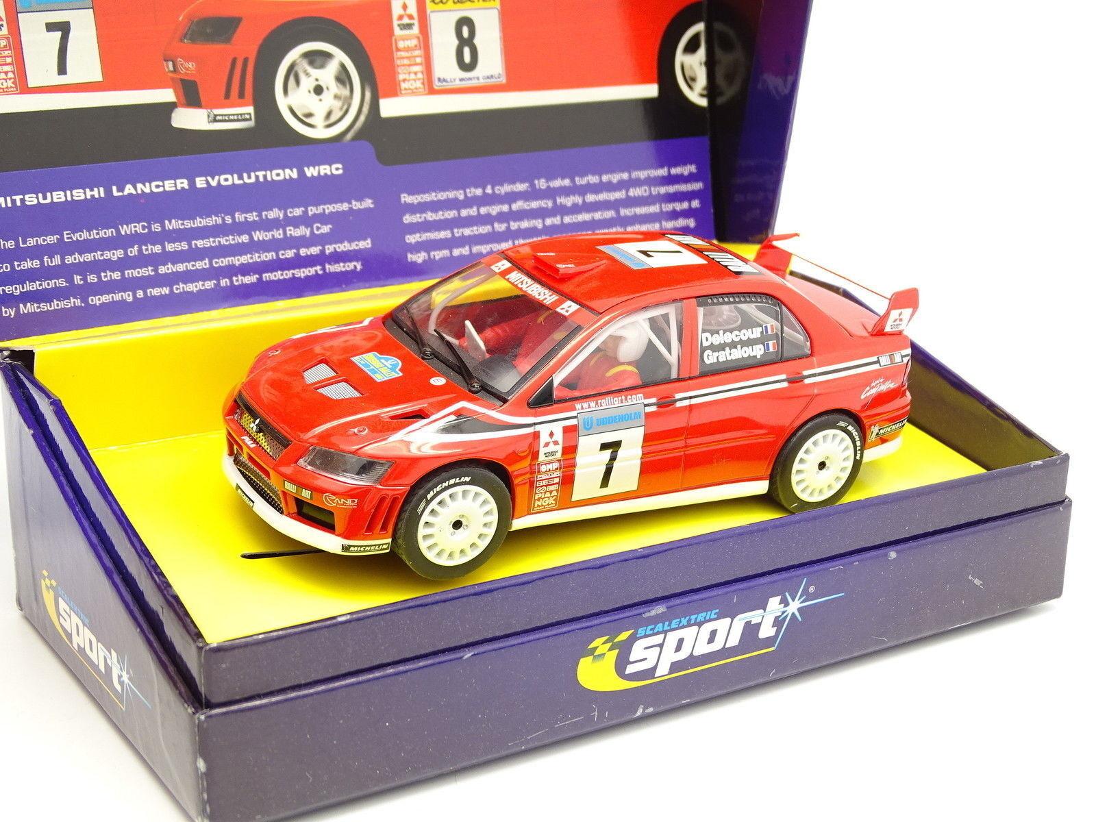 Scalextric Slot Car 1 32 - Mitsubishi Lancer WRC Schweden Rally Delecour