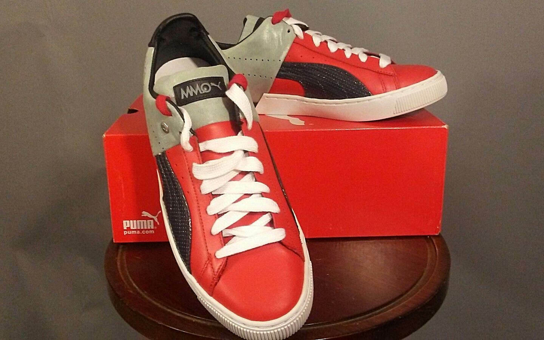 Puma Uomo 10 US 50/50 PP 358238 02 High Risk Navy Red Gray New Navy Risk ** New In Box ** 6178c6