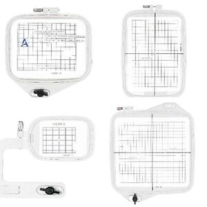Set of 4 hoops janome memory craft mc 9500 9700 10000 for Janome memory craft 9500
