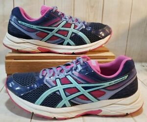 Details about ASICS Gel Contend 3 T5F9N Running Shoes PinkTealNavy Women Sz Size 11 M