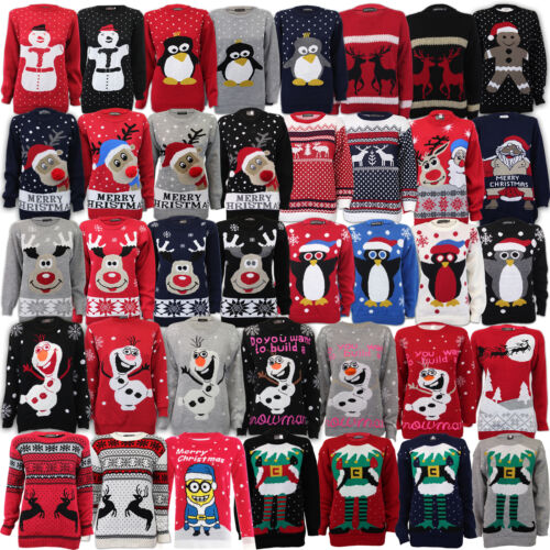 Ladies Womens Mens Xmas Christmas Novelty Jumper Vintage 70/'S Retro Sweater New