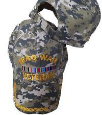 Iraq War Veteran Camo Embroidered Baseball Cap Hat Freedom Desert Storm A131