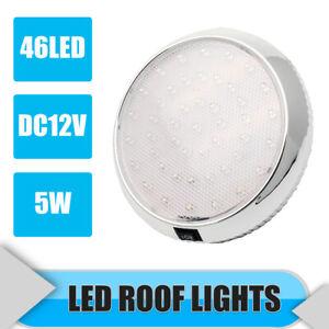 12V-White-LED-Roof-Lights-Interior-Ceiling-Lamp-For-Car-Camping-Boat-Caravan-AU