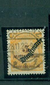 Deutsches-Reich-Saar-Nr-D-85-gestempelt-Geprueft-BPP-Infla