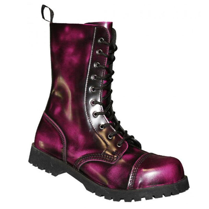 Boots & & Boots Braces 10-Loch Stiefel Rub-Off-Ranger-Schwarz-pink-GOTHIC-Metal-Punk 77f7d0