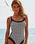 miniature 2 - Anita-BLACK-WHITE-PRINT-Fanny-One-Piece-Swimsuit-US-34F-UK-34E