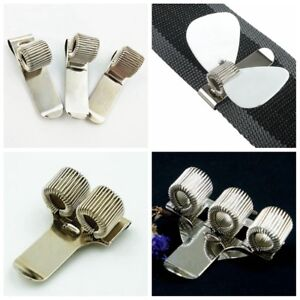 Guitar-Pick-Holder-Clip-Metal-Pick-Holder-Clip-on-Straps-for-Guitar-Bass-Straps