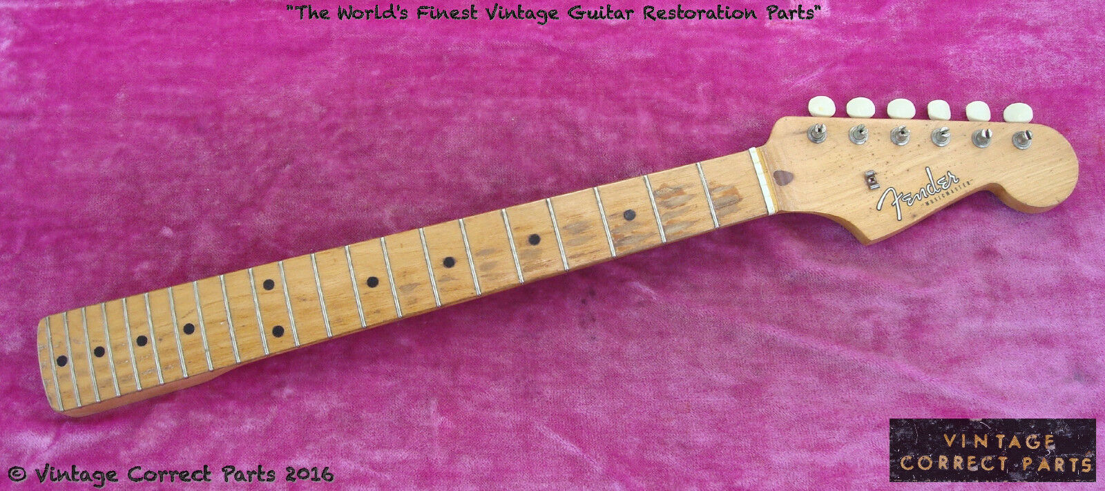 Vintage 1958 Fender Musicmaster Neck - Original Finish & Frets FAT  V  PROFILE