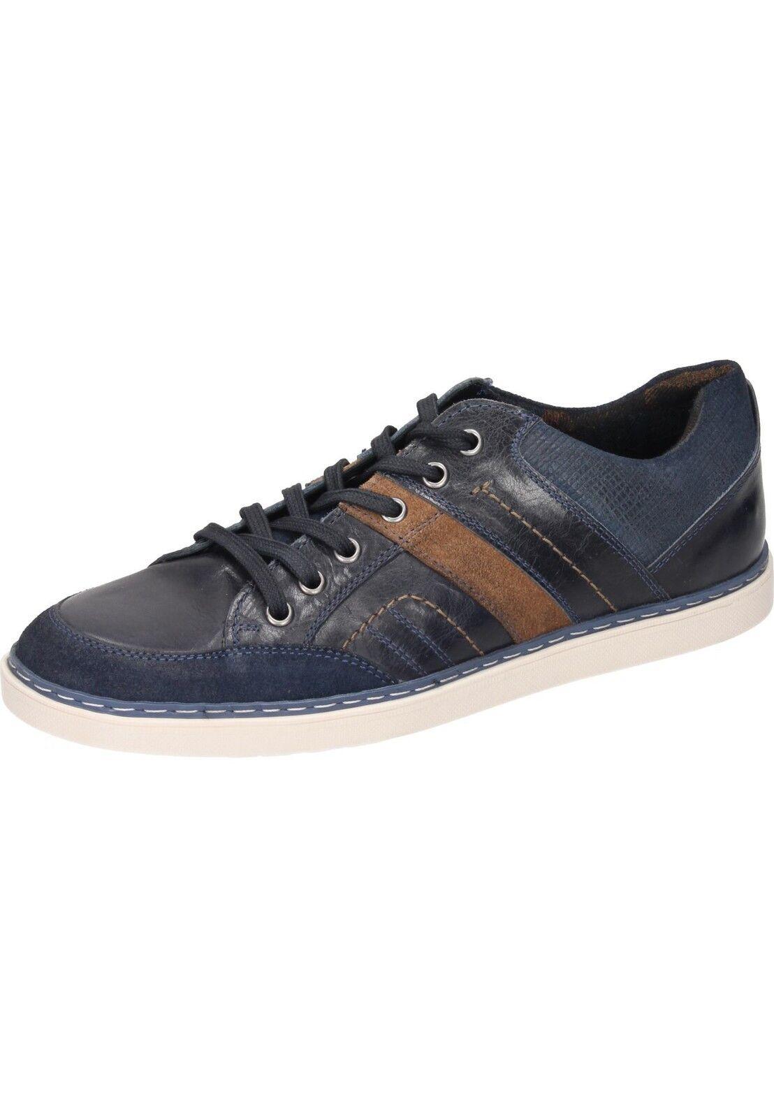 Manitu Chaussure Lacée cuir basses paniers Taille 39-49 Bleu 641414-5 neu32