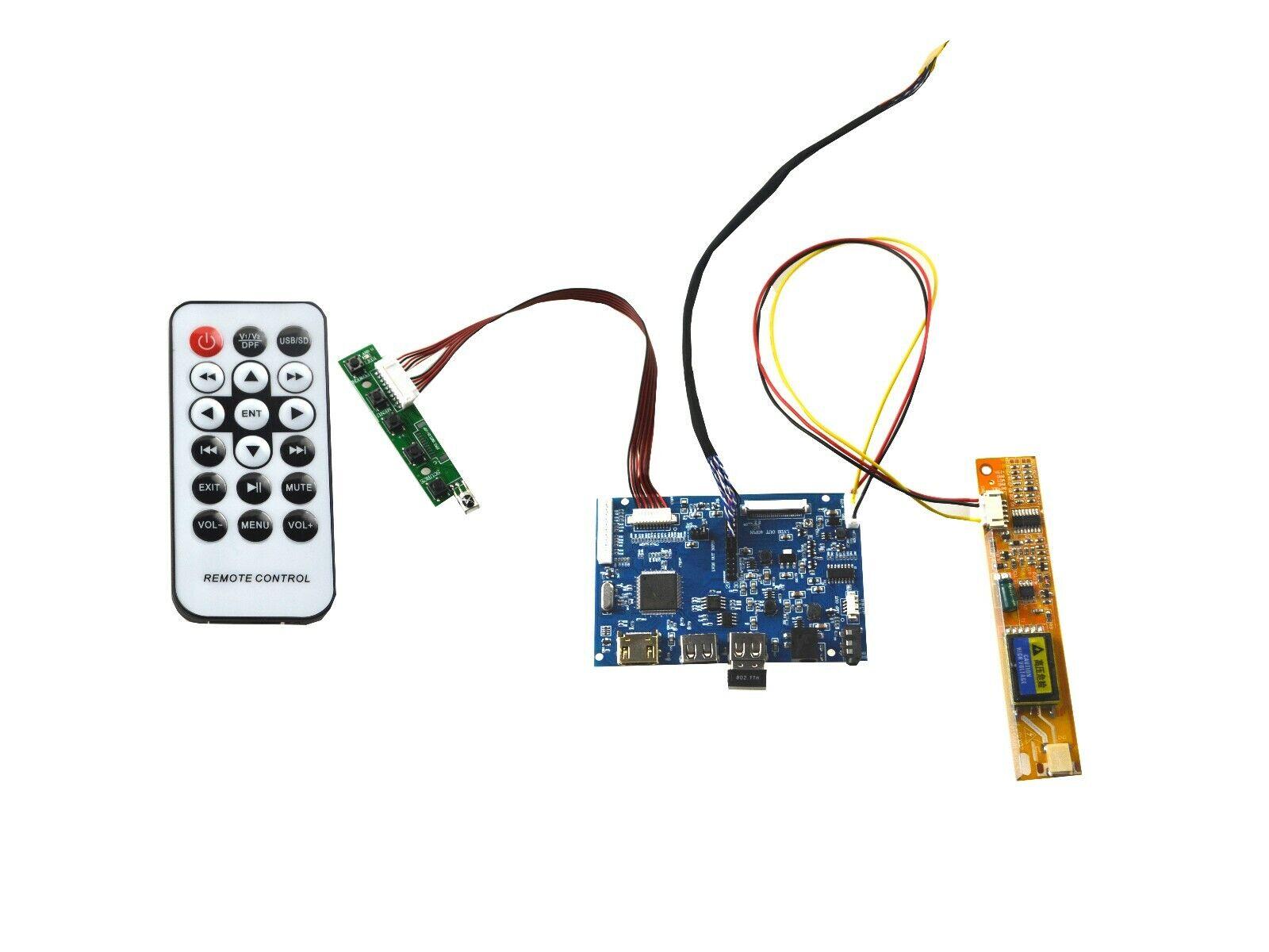 VGA DVI LED LCD lvds Controller Driver Board  kit for B141EW05 V.3 v3 HDMI