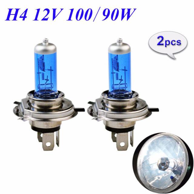 2PCS H4 12V 60/55W 5000K Halogen Car Light Bulbs White Light Xenon Headlight