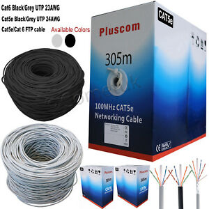 305M RJ45 Cat6 Cat5e Network Ethernet FTP UTP OUTDOOR Roll Reel ...
