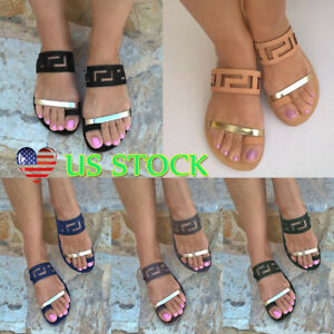 Women-Casual-Flat-Slides-Sandals-Comfy-Flip-Flop-Toe-Post-Slippers-US-Sizes-6-10
