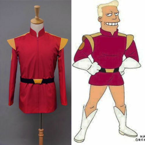 NEW Sitcom Futurama Captain Zapp Brannigan Red Uniform Cosplay Cos