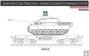 Jagdpanther-G1-Early-Product-w-Zimmerit-amp-Schwerer-Plattformwagen-Takom-2125X-1-35