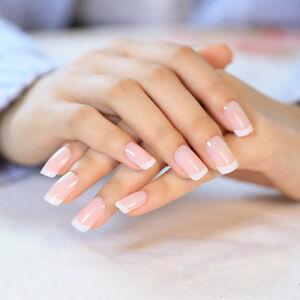Image Is Loading 24 Pcs Clical French False Nails White