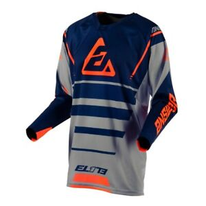 mens ANSWER ELITE FORCE motocross jersey EXTRA LARGE 474307 char/midn/org