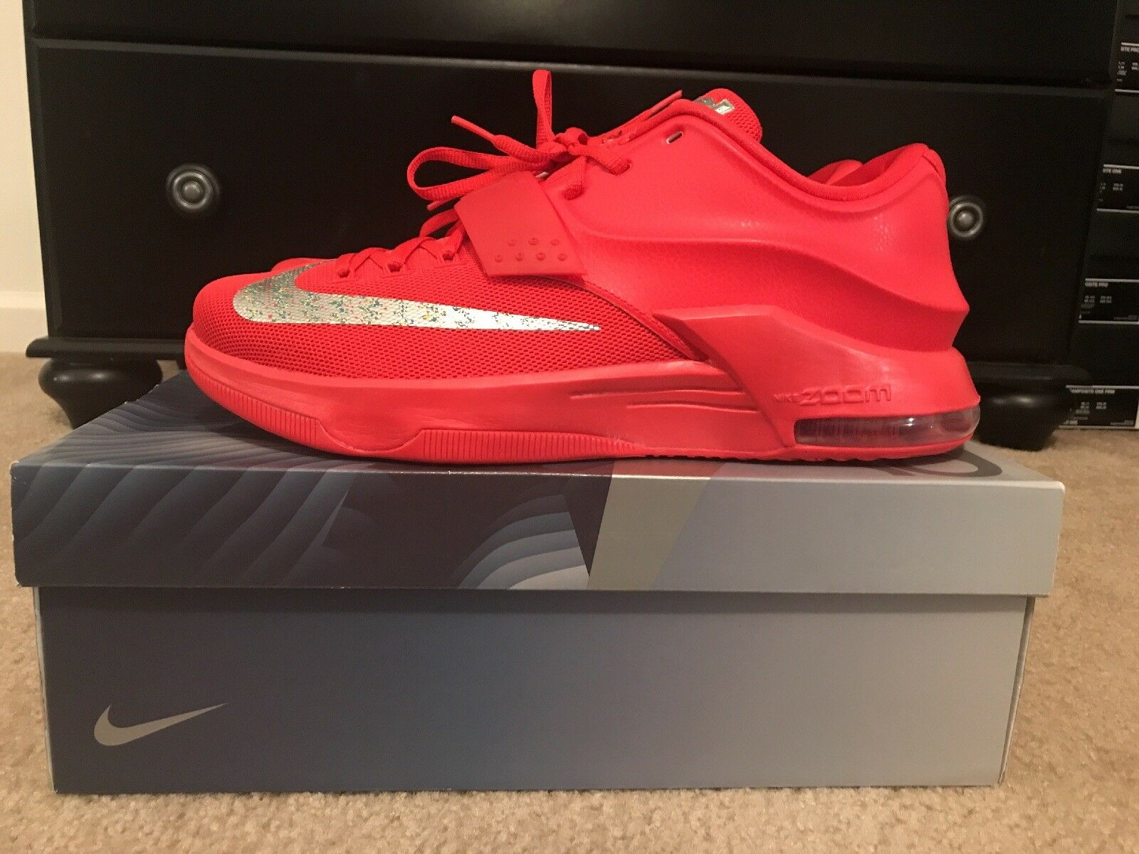Nike KD VII 7  Global Game   Action Red Silver Grey SZ 11.5 (653996-660)