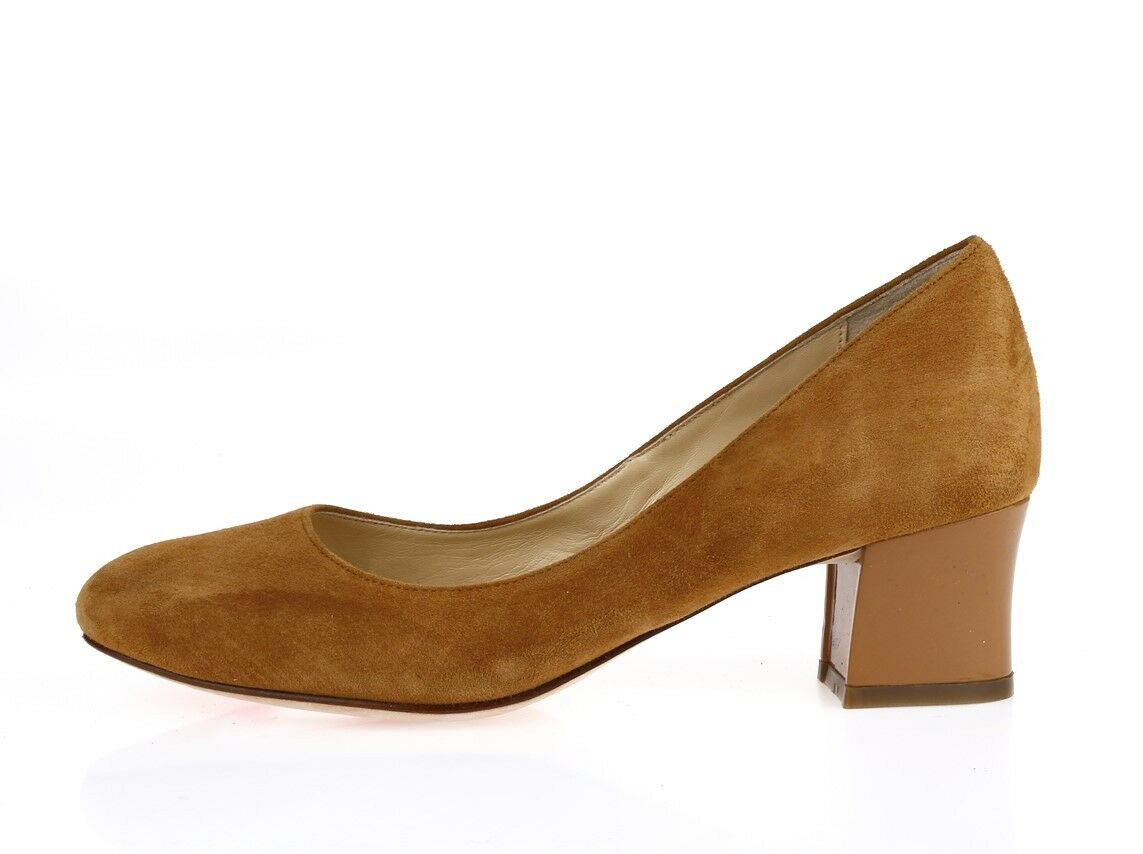 Womens COLE HAAN 209281 brown / tan suede pumps sz. 6 B NEW!